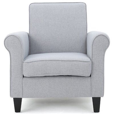 Conrad Arm Chair Upholstery: Light Gray