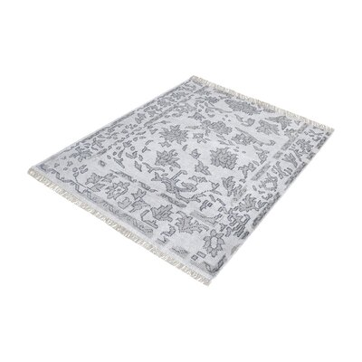 Kinkade Square Hand-Knotted Gray Area Rug Rug Size: Square 6
