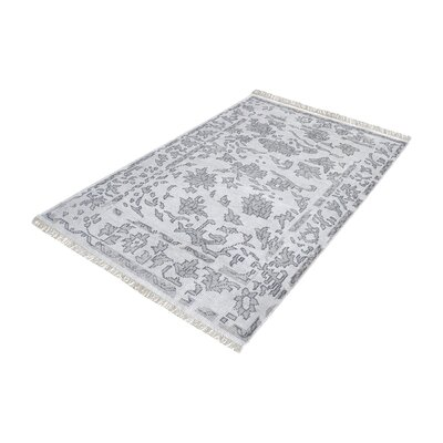 Kinkade Rectangle Hand-Knotted Gray Area Rug Rug Size: Rectangle 5 x 8