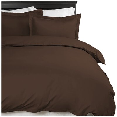 Moran Duvet Cover Set Color: Chocolate, Size: King
