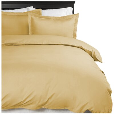 Moran Duvet Cover Set Color: Gold, Size: Queen