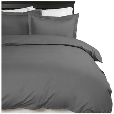 Moran Duvet Cover Set Color: Gray, Size: Queen