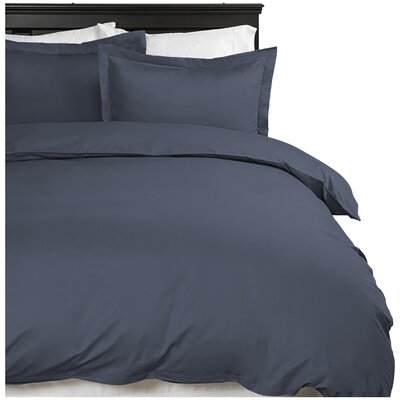 Moran Duvet Cover Set Color: Navy, Size: King