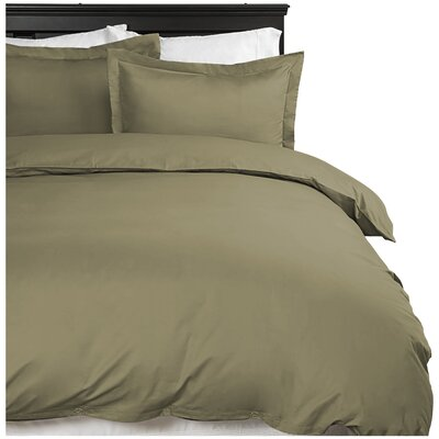 Moran Duvet Cover Set Color: Sage, Size: Twin