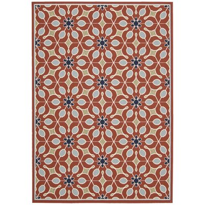 Lewis Rust Indoor/Outdoor Area Rug Rug Size: 93 x 129