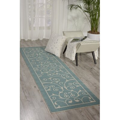Wright Light Blue Indoor/Outdoor Area Rug Rug Size: 23 x 39