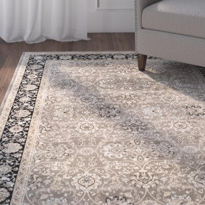 Petronella Gray & Black Area Rug