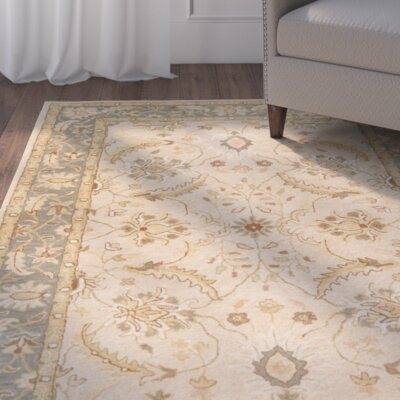 Laurel Valley Hand-Tufted Brown/Green Area Rug Rug size: 9 x 13