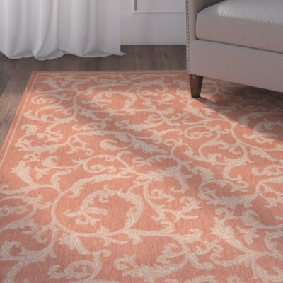 Alderman All Over Ivy Terracota Indoor/Outdoor Area Rug
