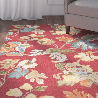 Bradwood Floral Red / Multi Contemporary Rug Rug Size: 8 x 10