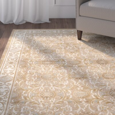 Patrick Beige Oriental Rug Rug Size: Rectangle 27 x 4