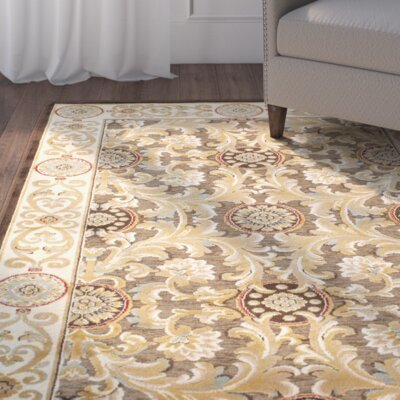 Patrick Dark Light Brown Oriental Rug Rug Size: Rectangle 27 x 4