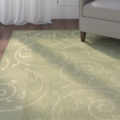 Alderman Indoor/Outdoor Maribelle Olive Area Rug
