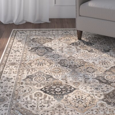 Petronella Ivory Area Rug Rug Size: Rectangle 67 x 92