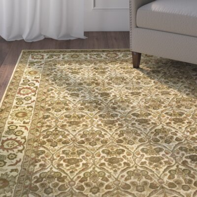 Dunbar Garden Panel Gold Area Rug Rug Size: Rectangle 96 x 136