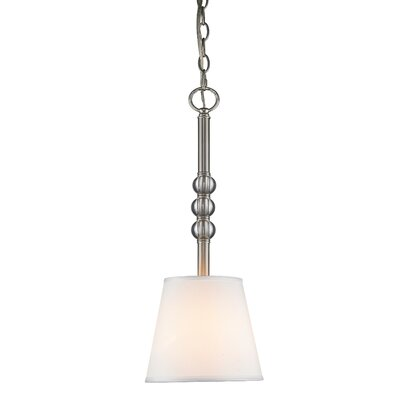 Bain 1-Light Mini Pendant Shade Color: Classic White