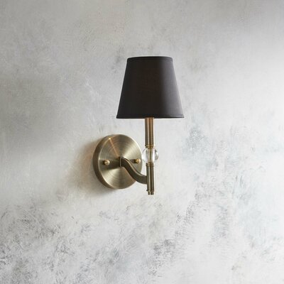 Raposo 1-Light Armed Sconce Shade Color: Groom
