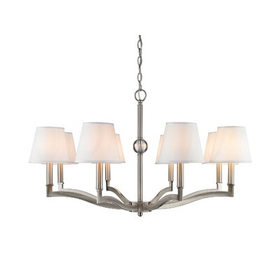 Bain 8-Light Shaded Chandelier Shade Color: Classic White