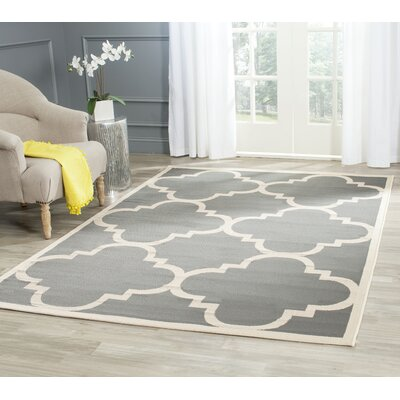 Octavius Gray/Beige Indoor/Outdoor Area Rug Rug Size: Rectangle 8 x 112