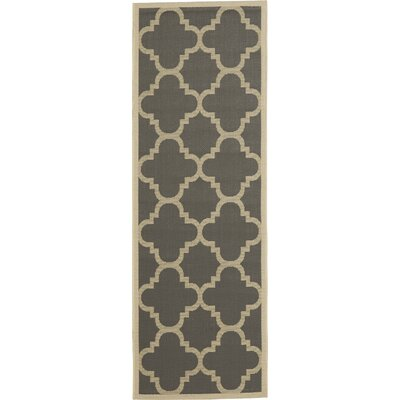 Octavius Gray/Beige Indoor/Outdoor Area Rug Rug Size: Runner 24 x 14
