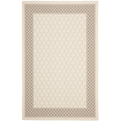 Alderman Beige/Dark Beige Indoor/Outdoor Area Rug Rug Size: 67 x 96