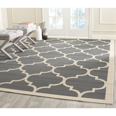Alderman Anthracite/Beige Outdoor/Indoor Area Rug