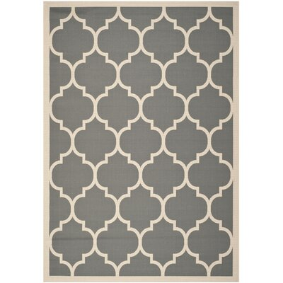 Octavius Anthracite/Beige Outdoor/Indoor Area Rug Rug Size: 53 x 77
