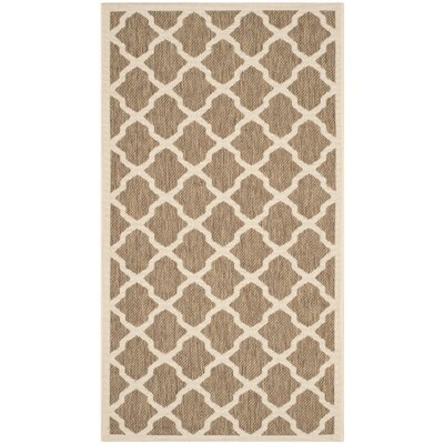 Octavius Indoor/Outdoor Brown Area Rug Rug Size: Rectangle 53 x 77