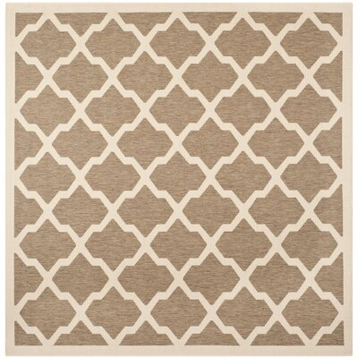 Octavius Indoor/Outdoor Brown Area Rug Rug Size: Square 710