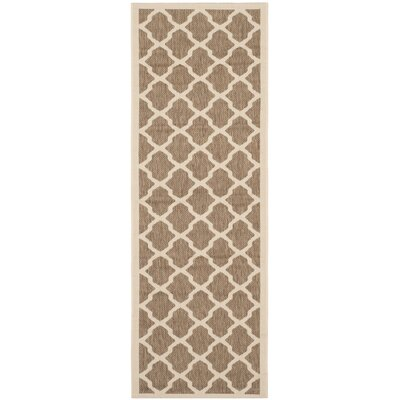 Octavius Indoor/Outdoor Brown Area Rug Rug Size: Runner 23 x 67