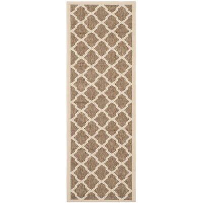 Octavius Indoor/Outdoor Brown Area Rug Rug Size: Rectangle 27 x 5