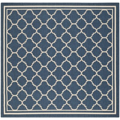 Octavius Navy Outdoor Area Rug Rug Size: Square 710