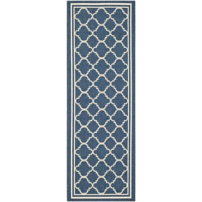 Octavius Navy Outdoor Area Rug Rug Size: Rectangle 27 x 5