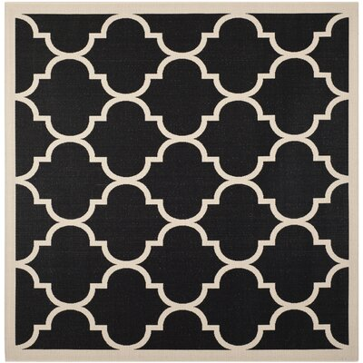 Octavius Black/Beige Indoor/Outdoor Area Rug Rug Size: Square 710