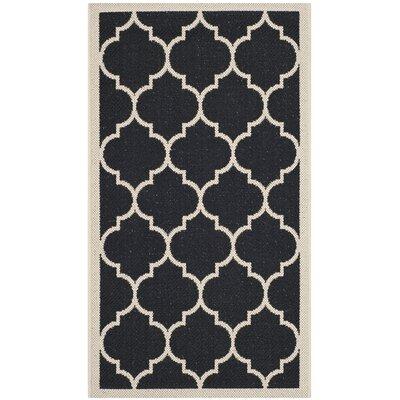 Alderman Black/Beige Indoor/Outdoor Area Rug Rug Size: 4 x 57