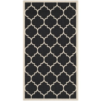 Octavius Black/Beige Indoor/Outdoor Area Rug Rug Size: 67 x 96