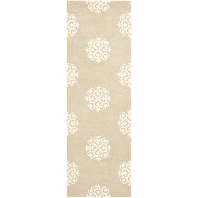 Alvan Beige/Ivory Area Rug Rug Size: Rectangle 76 x 96