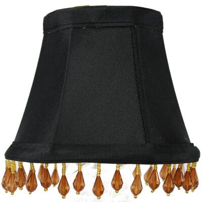 5 Shantung Bell Candelabra Shade Color: Black