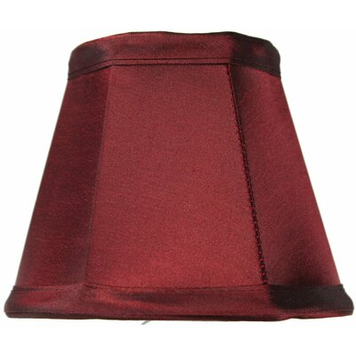 5 Shantung Empire Candelabra Shade Color: Chameleon Burgundy