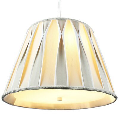 Alvares 2-Light Mini Pendant Shade Color: Beige