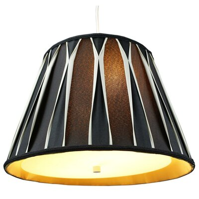 Alvares 2-Light Mini Pendant Shade Color: Black