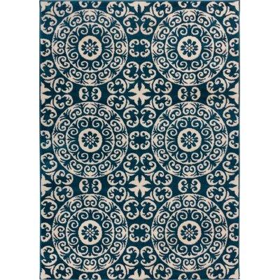 Giles Petra Palatial Navy Blue Area Rug Rug Size: 710 x 106