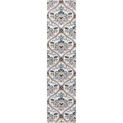 Harper Geometric Darling Floral White Area Rug Rug Size: Runner 18 x 7