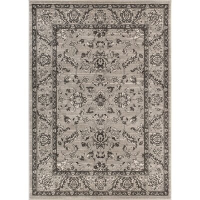 Giles Traditional Grey Area Rug Rug Size: 53 x 73