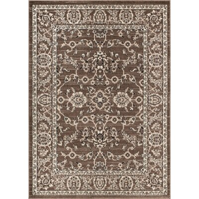 Giles Traditional Natural Area Rug Rug Size: 53 x 73