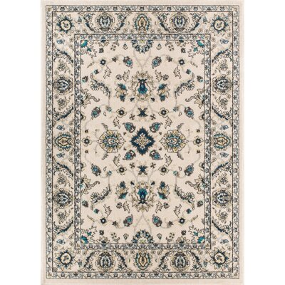 Giles Traditional Ivory Area Rug Rug Size: 23 x 311