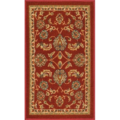 Addieville Red Area Rug Rug Size: 1'8