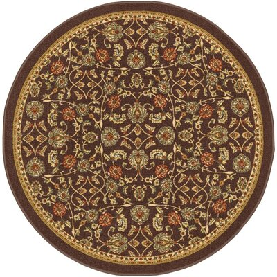 Addieville Brown Area Rug Rug Size: Round 4'3