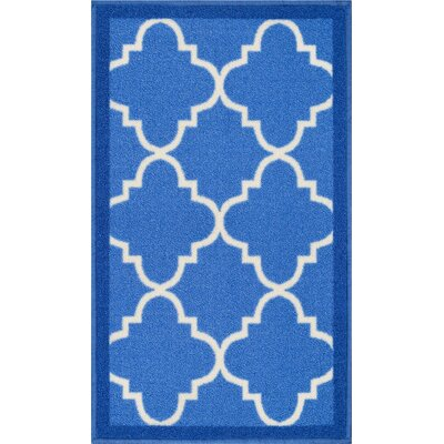 Addieville Blue Area Rug Rug Size: 33 x 47