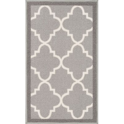 Addieville Gray Area Rug Rug Size: 33 x 47